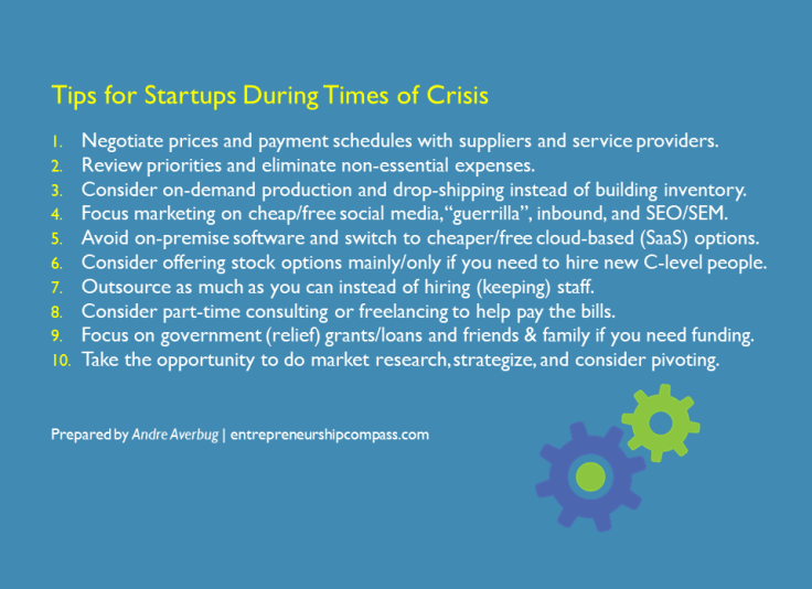 Averbug tips for startups crisis LinkedIn